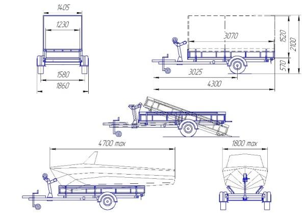 Прицепы для легковых автомобилей своими руками чертежи видео - Savvinka.ru